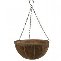 Coș metalic cu fibră de cocos 40 cm