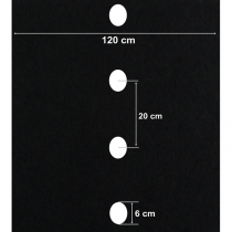 Folie neagră UV găurită 1 rând (30 microni)