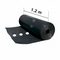 Black mulch film perforated 1 row (30 microns)