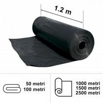 Folie neagră UV 1.2 m lățime