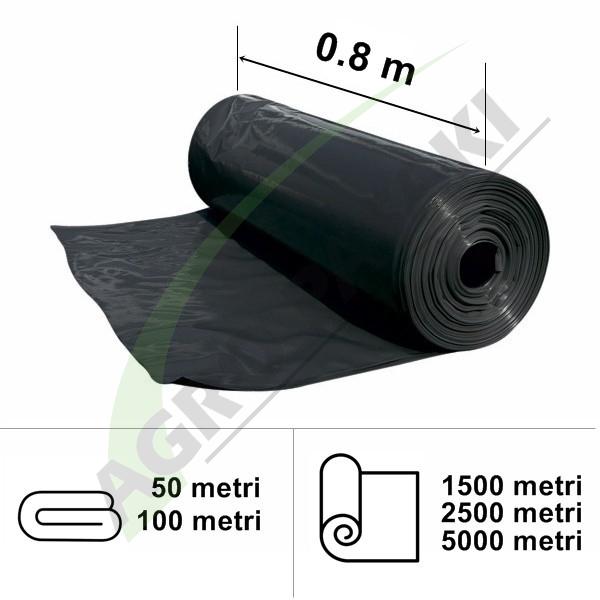 Folie neagră UV 0.8 m lățime