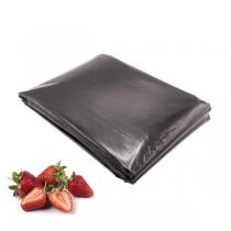 Folie neagră UV găurită pentru căpșuni (30 microni)