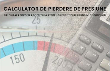 Calculator de pierdere de presiune